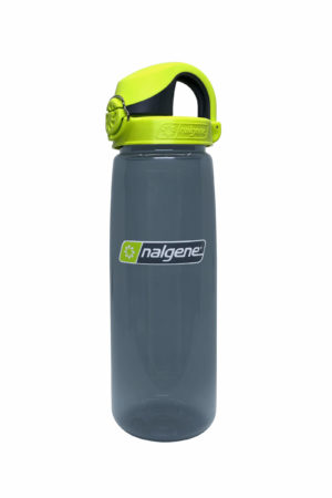 24oz OTF Bottle Charcoal with Lime Green Cap