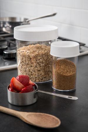 Eight oz. storage jars