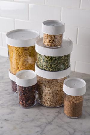 Assorted storage jars