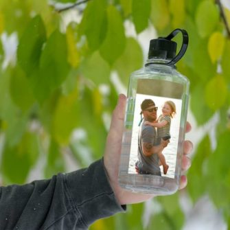 Custom narrow-mouth bottle with family photo
